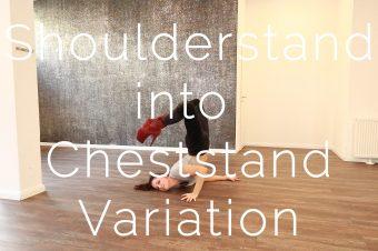 Shoulderstand into Cheststand Variation
