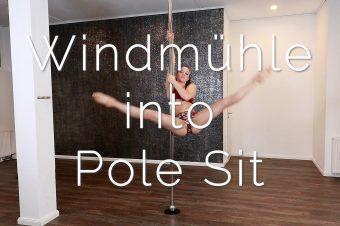 Windmühle into Pole Sit